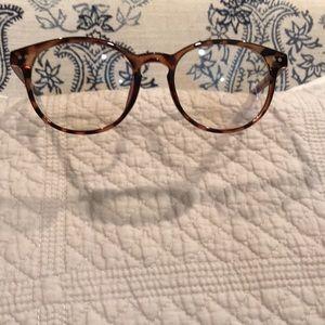 Blue Light Blocker Glasses RoundEye Brown Tortoise